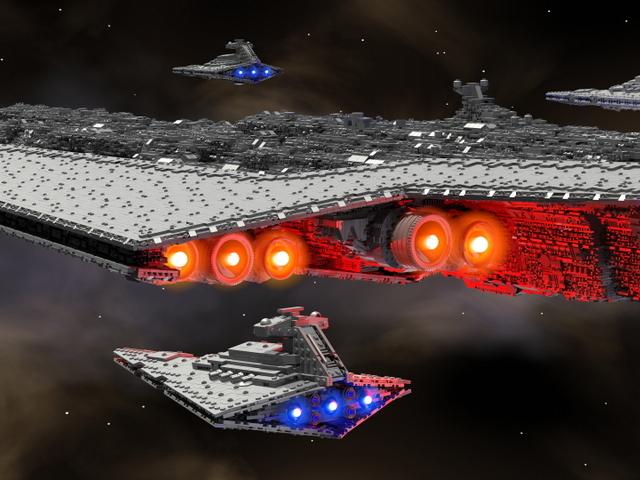 Корабль «Звездных войн» из тысяч кирпичиков Лего